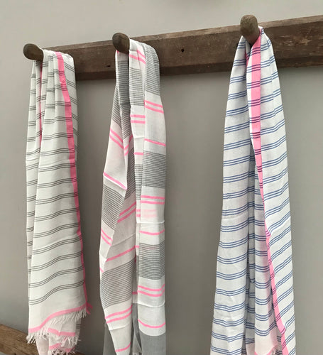 Stripe new season scarves