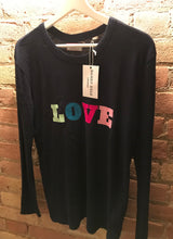 Dandy star long sleeve navy 'LOVE' t shirt.