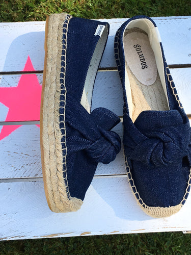 Soludos knotted platform smoking slipper