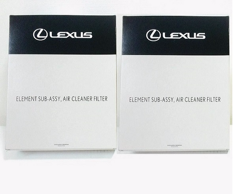 Genuine Lexus Japan 2007-2017 LS Engine Air Filter Set