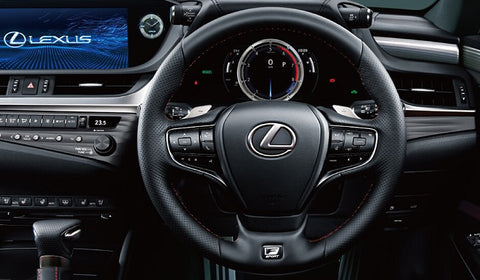 Genuine Lexus Japan 2019-2020 ES F-Sport Punching Leather Steering Wheel Kit with Aluminium Paddle Shift