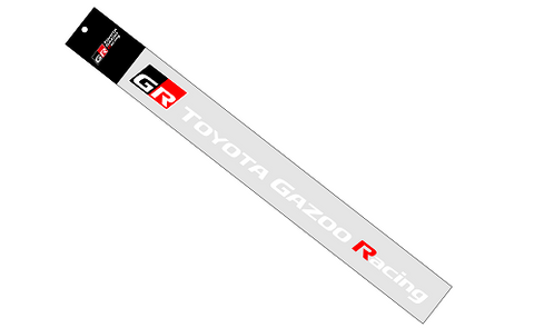 Genuine Toyota Japan 2020 GR Toyota Gazoo Racing Graphic Sticker Decal (White)
