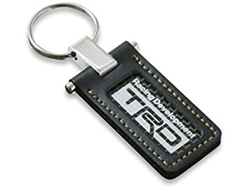 TRD JAPAN Black Leather and Carbon Key Ring