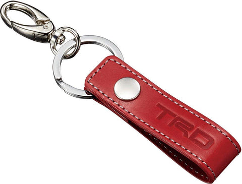 TRD JAPAN Genuine Leather Key Tag (RED)