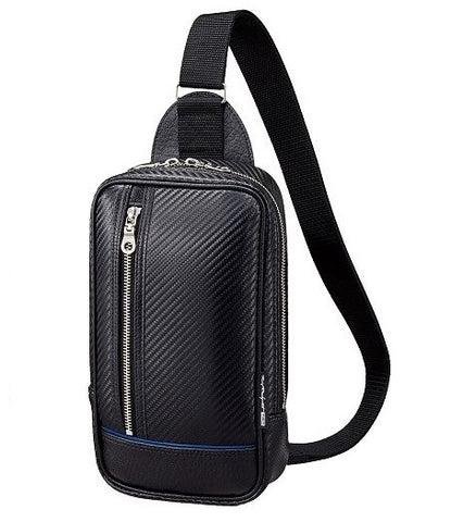 TRD JAPAN Carbon Pattern Leather Crossbody Bag