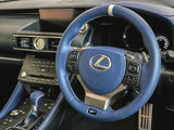 "Genuine Lexus Japan 2019 RC-F ""F 10th Anniversary"" Limited Edition Blue Trim Steering Wheel Kit"