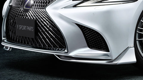 Genuine Lexus Japan 2018-2019 LS 500/500h Factory Painted Front Spoiler Kit with Chrome Garnish