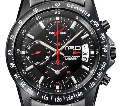 TRD JAPAN Black IP Stainless Steel Chronograph Watch