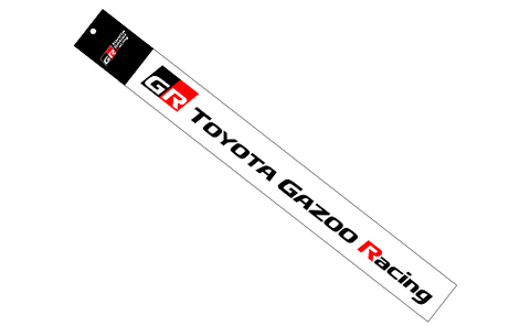 Genuine Toyota Japan 2020 GR Toyota Gazoo Racing Graphic Sticker Decal (Black)