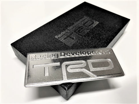 TRD JAPAN 3D Metal Plate Emblem with Gift Box