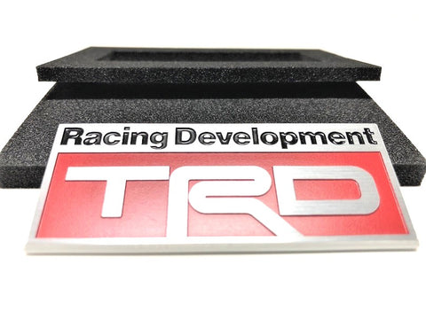 TRD JAPAN 3D Metal Plate Emblem - Red Type