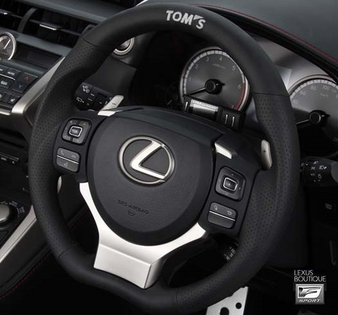 TOM'S JAPAN 2015-2018 RC/RC-F Black Leather and Gun Grip Racing Steering Wheel