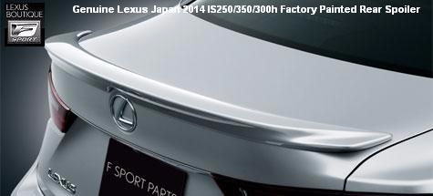 Genuine Lexus Japan 2014-2016 IS Factory Painted Rear Spoiler