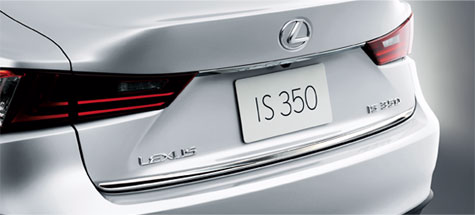 Genuine Lexus Japan 2014-2016 IS Chrome Rear Trunk Garnish