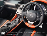Genuine Lexus Japan 2015-2018 RC-F Limited Edition Orange Trim Steering Wheel Kit