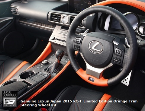 Genuine Lexus Japan 2015-2019 RC-F Limited Edition Orange Trim Steering Wheel Kit