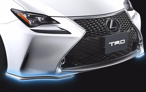 TRD JAPAN 2015-2018 Lexus RC Factory Painted Front Spoiler Kit