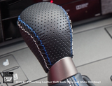 Genuine Lexus Japan 2015-2018 RC-F Punching Leather Shift Knob (Blue and White Stitching)