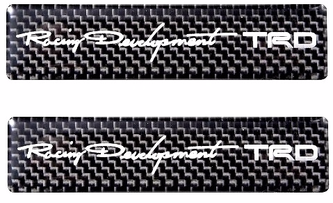 2015 TRD JAPAN Carbon Badge Set (Set of 2)