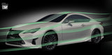 TRD JAPAN 2019 Lexus RC Factory Painted Side Skirts