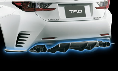 TRD JAPAN 2015-2018 Lexus RC Factory Painted Rear Bumper Side Spoiler and Rear Diffuser Kit