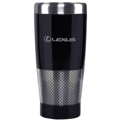 Lexus Black and Carbon Fiber Stainless Steel Travel Mug
