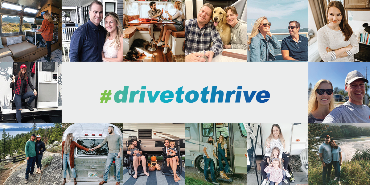 The Drive To Thrive, RVer's across the country are thriving on the road. See what they are up to. Unique Camping + Marine