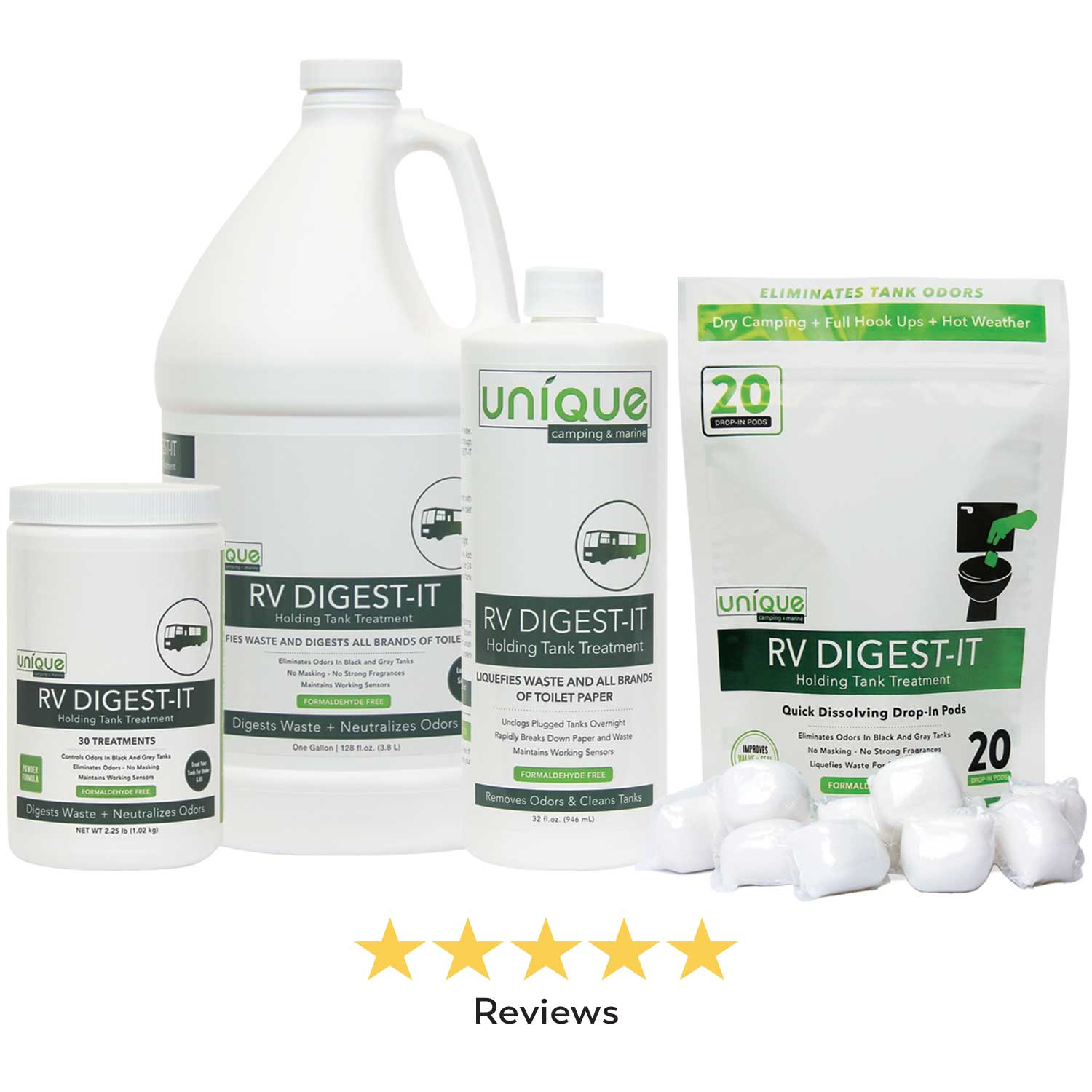 RV Digest-it is the most widely used independent tank treatment. Made for full time RVing
