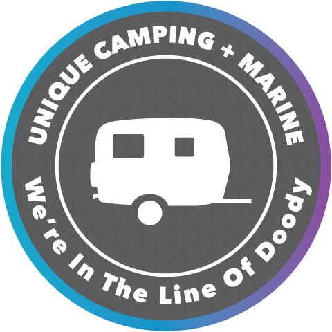 Unique Camping + Marine social badge, use the Unique Method for proper care in your holding tanks