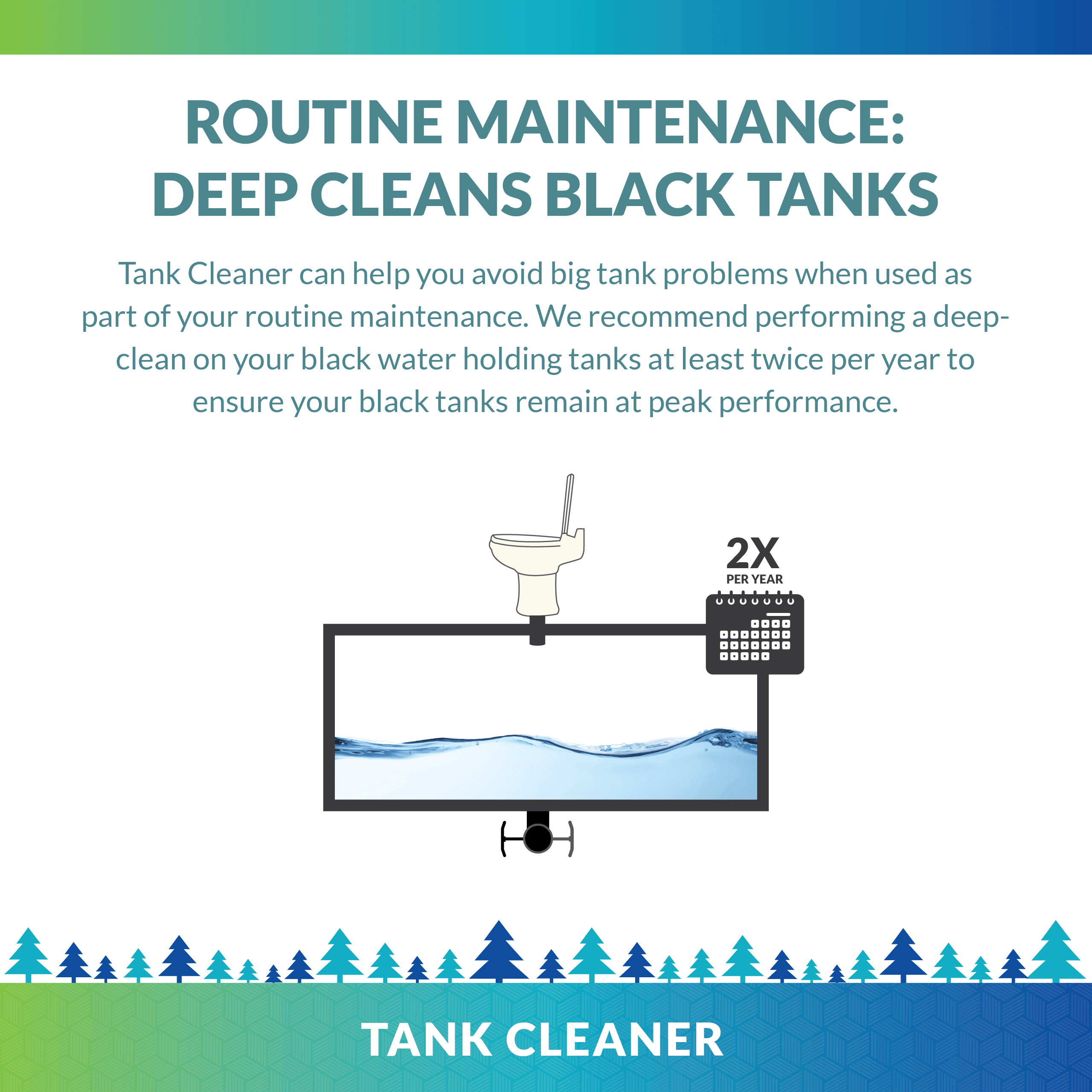 Routine treatment creates healthy holding tanks. Prevent clogs and residue. Unique Camping + Marine