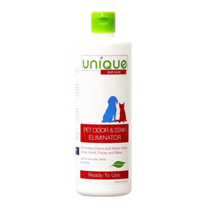 Unique Pet Stain and Odor Eliminator Is perfect to look after your furry friends. Clean up messes and smells with powerful microbial cleaners. Remove stains and odors hassle free!