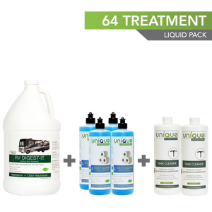 64 Treatment Full Timer Pack, 1 Gallon RV Digest-It. Unique Camping + Marine.