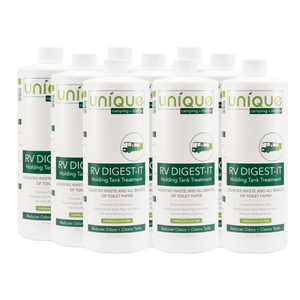 RV Digest-It 12 Pack 32 oz.. The best RV holding tank treatment. RV Digest-It is the most advanced holding tank treatment available with the most effective bacteria and enzyme strains. Digests solid waste, removes odors, and maintains working sensor probes.