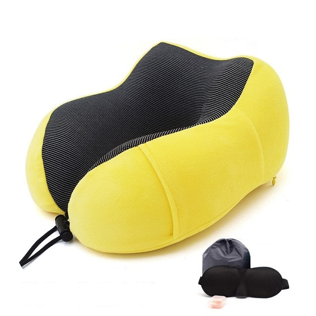 1PC U Shaped Memory Foam Neck Pillows Soft Slow Rebound Space Travel Pillow Solid Neck Cervical Healthcare Bedding Drop Shipping