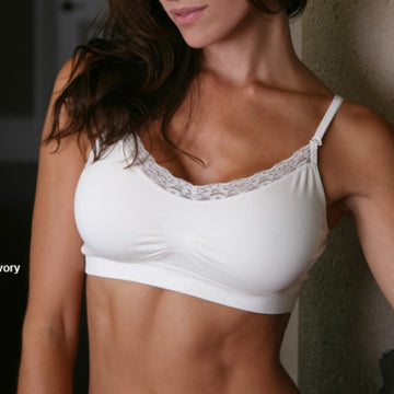 Coobie V-Neck Bra in White, Women's Bras, Lingerie