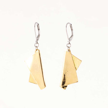 Manon Earrings by Anne Marie Chagnon in Gold