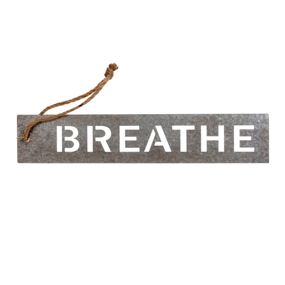 Breathe Metal Message Tray by Indaba