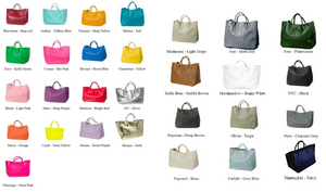 Hamptons Weekender Leather Beck Bag Availabile in Many Colors