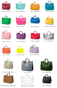 Ziplet Leather Bag by Beck Bags Available in Many Colors