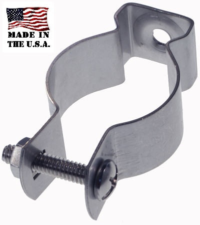 conduit hanger, stainless steel, pre-assembled, made in the USA