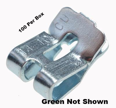 Box Grounding Clip Green Iridite provides a quick method of fastening a ground conductor to the edge of a steel outlet box