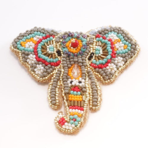 B+O by Vera Chaang Elephant Brooch- in gray color