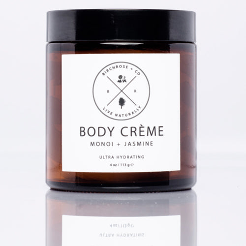 Ultra Hydating Natural Body Creme-  Monoi + Jasmine - Basics and Organics