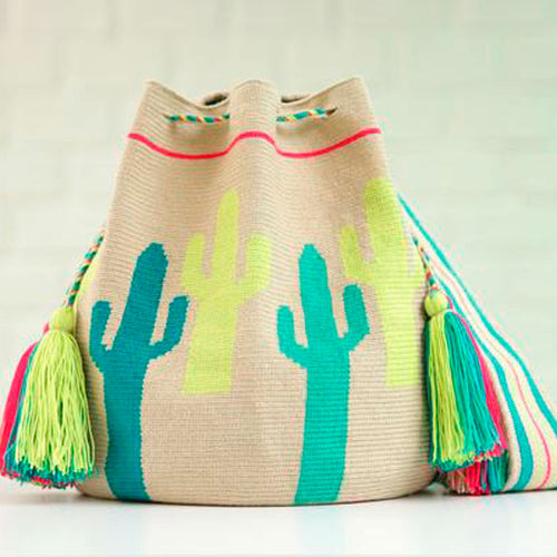 Cactus Ethnic Handmade Colombian Wayuu Bag - Basics and Organics
