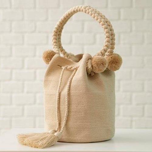 Barra Cream Ethnic Handmade Colombian Bag - Basics and Organics