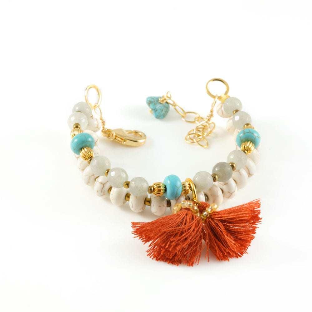 Vera Chaang Emma Handmade Natural Stones and Crystals Bracelet - Basics and Organics