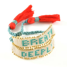 Vera Chaang Haati Handwoven Extendable Crystals and Beads Bracelet - Basics and Organics