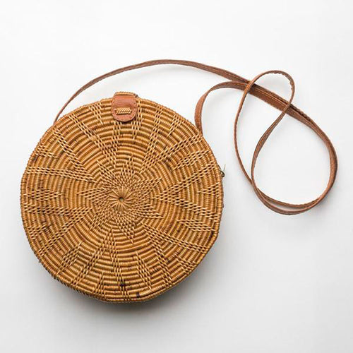 Sol Eco Friendly Indonesian Handmade Rattan/vegan  Bag - Basics and Organics