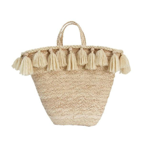 La Perla handmade bag Made with Fique a natural fiber with waterproof natural color canvas.