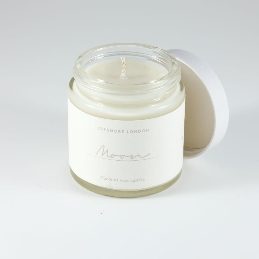 Moon Hand Poured Organic Coconut Wax  Candle - 120ml - Basics and Organics